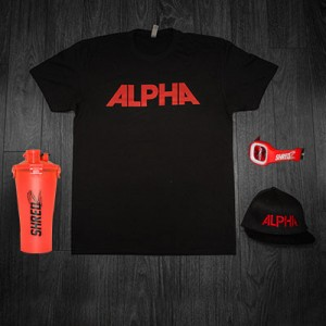 Alpha Tee & Hat (Black & Red)+Juiced+Shaker