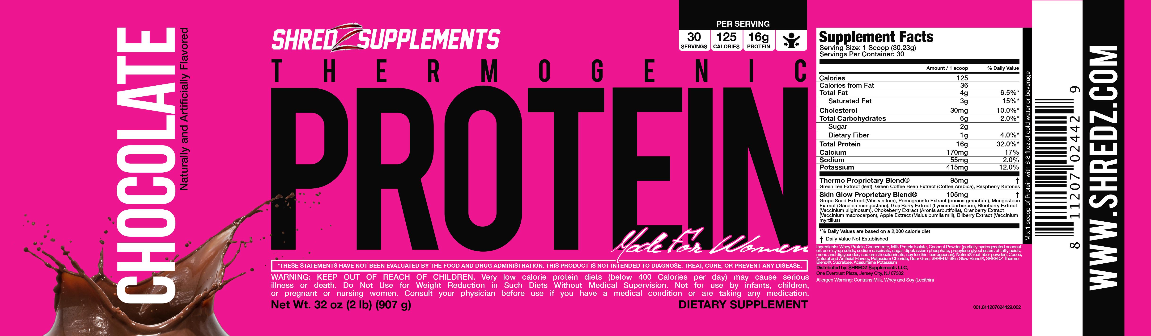 shredz thermogenic protein instructions