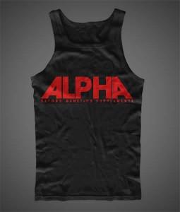 ALPHA Hand Printed Tank