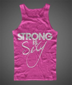 STRONG IS SEXY Hand Printed Tank
