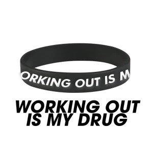 Working Out Is My Drug Wristband